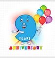 9 anniversary funny digits vector image