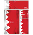 abstract bahrain flag background vector image vector image