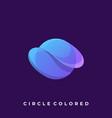 abstract circle template vector image