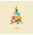 Abstract Merry Christmas Background Tree from vector image vector image