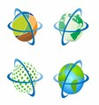 Around the World Around Globe vector image vector image