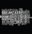 ashville north carolina bed and brekfast text vector image vector image