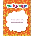 baby sale with colorful background vector image vector image