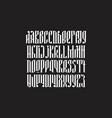 balalaika typeface set vector image vector image