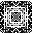 black vintage tracery vector image vector image