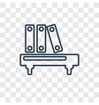 bookshelf with books concept linear icon isolated vector image