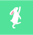 bunny curious reaching up on tiptoe vector image