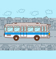 bus urban public transport vector image vector image