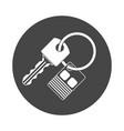 car key and key chain vector image