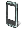 cartoon image of smartphone icon cellphone vector image vector image