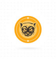cat icon with circle vector image vector image