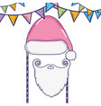 christmas booth props cartoons vector image