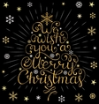 christmas inscription with colorful rays vector image vector image