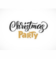 christmas party hand written lettering modern vector image vector image