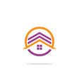 circle house logo vector image vector image