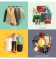 Clothes Icons Flat vector image