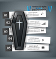 coffin icon business infographics vector image