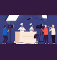 cooking show chef live tv entertainment people vector image vector image
