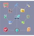 Data transfer and web security technology concept vector image