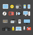Different color media devices collection Design vector image vector image