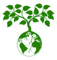 earth tree graphic vector image