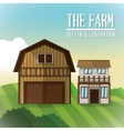 Farm barn icon vector image vector image