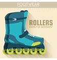 Flat sport rollers background concept desig vector image