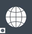 globe glyph icon vector image vector image