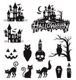 halloween stickers and labels black color vector image