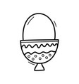hand drawn doodle egg icon for backgrounds vector image vector image