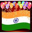 Happy birthday balloons with india flag