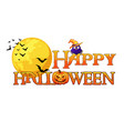happy halloween banner background with full moon vector image