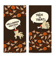 happy halloween vertical banners vector image vector image