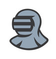 japanese kendo helmet sign vector image vector image