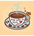 keep calm drink coffee vector image vector image
