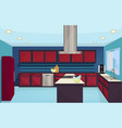 kitchen furniture interior design vector image