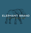 logotype elephant vector image