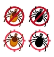 Mite icons set vector image vector image