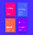modern abstract covers set motion blur text vector image