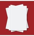 modern white books or brochure vector image