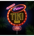 Neon sign Tiki bar vector image vector image
