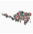 people map country Sint Maarten vector image