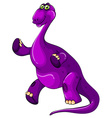 Purple dinosaur standing up vector image vector image