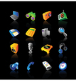 Realistic icons set for devices vector image vector image