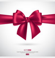 realistic pink bow and ribbon vector image vector image