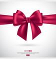 realistic pink bow and ribbon vector image