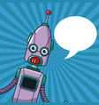 robot technology toy bubble speech vector image
