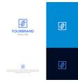 s tech logo design vector image