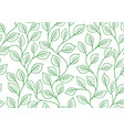 seamless linear pattern floral ornament vector image vector image