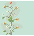 seamless vintage flower border pattern vector image